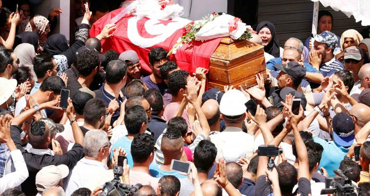 A memorial service for the victims was held on Monday in Tunis.