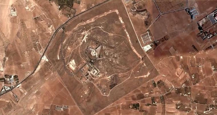 A handout satellite image released by Amnesty International shows the military-run Saydnaya prison, one of Syria's largest detention centres located 30 kilometres north of Damascus, in 2017. (AFP)