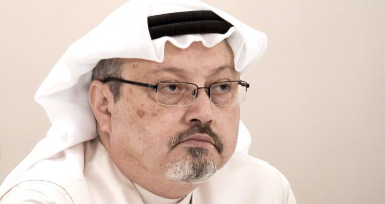 A 2015 file picture shows Saudi journalist Jamal  Khashoggi attending a press conference in Manama. (AFP)