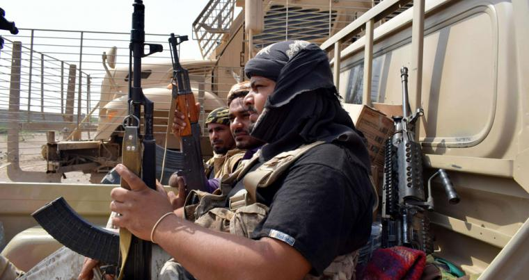 Yemeni pro-government forces advance towards the port city of Hodeida, controlled by Huthi rebels, on November 6. (AFP)