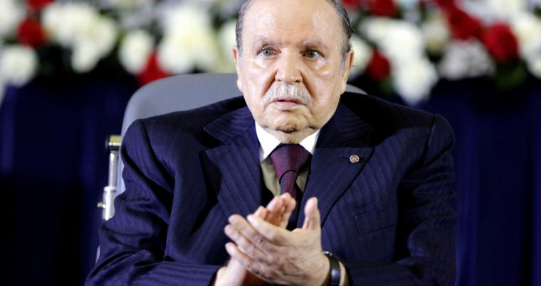 A file photo showing Algerian President Abdelaziz Bouteflika in Algiers, in 2014. (Reuters)