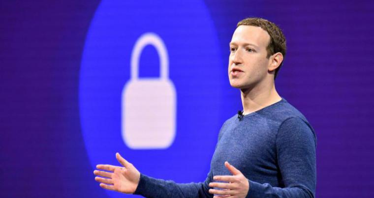 A file photo shows Facebook CEO Mark Zuckerberg speaks during the annual F8 summit at the San Jose McEnery Convention Center in San Jose, California, 2018. (AFP)
