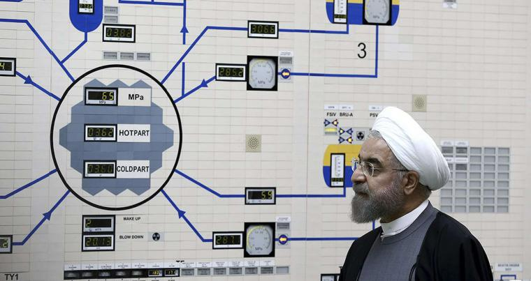 In this January 13, 2015 file photo, released by the Iranian President's Office, President Hassan Rohani visits the Bushehr nuclear power plant just outside of Bushehr, Iran. (AP)