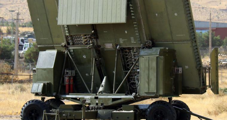 "A new Iranian missile defence system called ""Falagh"" is on display at an undisclosed location, August 10. (Iranian Army office via AFP)"