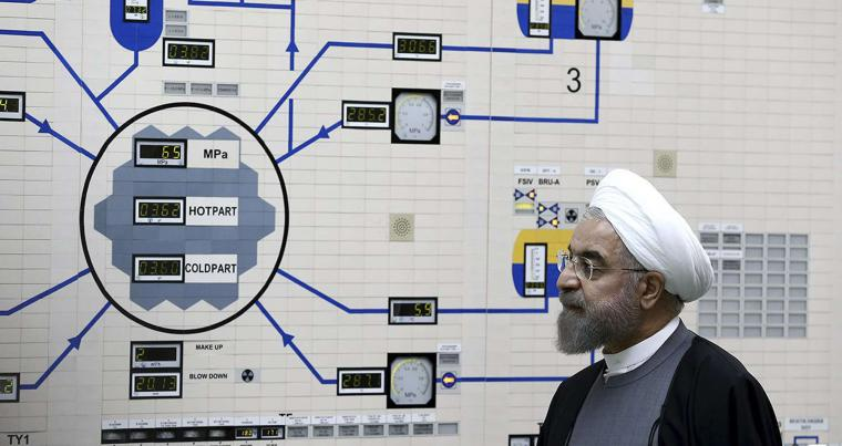 In this Jan. 13, 2015, file photo released by the Iranian President's Office, President Hassan Rouhani visits the Bushehr nuclear power plant just outside of Bushehr, Iran. (AP)