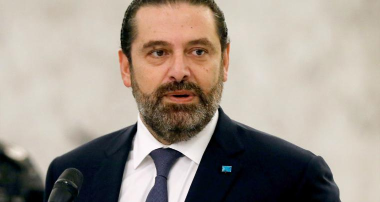 Back in the game. Lebanon's caretaker Prime Minister Saad Hariri speaks after meeting with President Michel Aoun at the presidential palace in Baabda, last November. (Reuters)