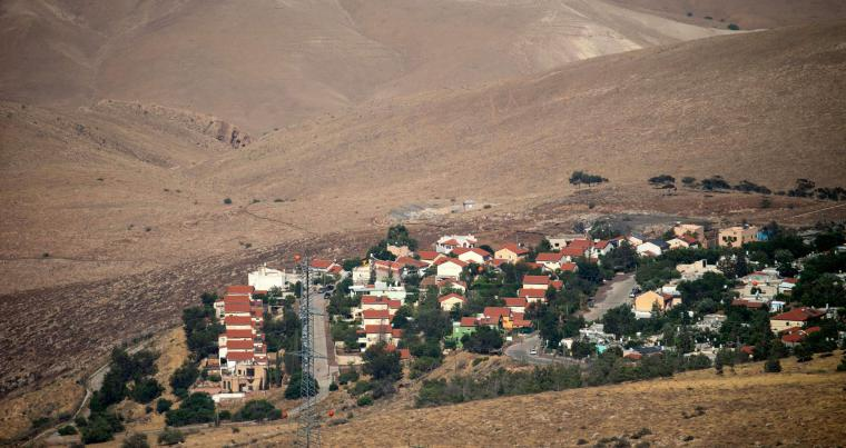 A view shows the Israeli settlement of Maale Efraim in the Jordan Valley, on June 30. (AFP)