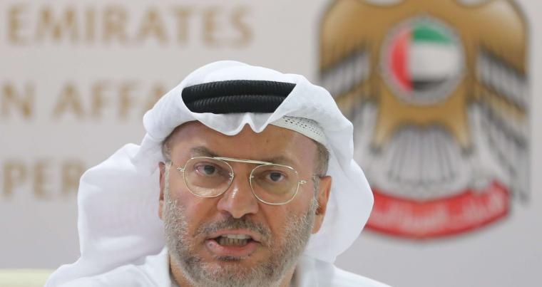 A file photo of Emirati minister of state for foreign affairs Anwar Gargash. (AFP)