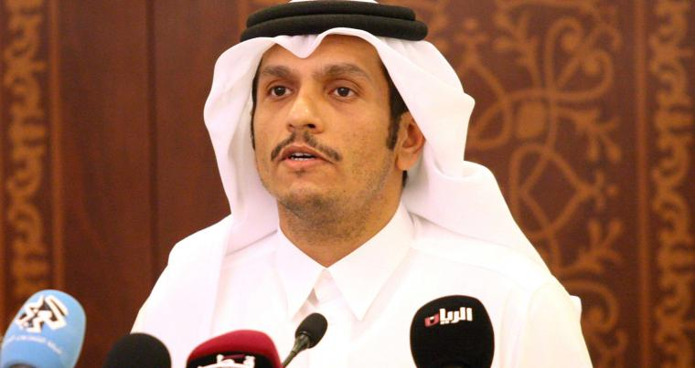 A file picture of Qatar's Foreign Minister Sheikh Mohammed bin Abdulrahman al-Thani  holding a news conference in Doha. (REUTERS)
