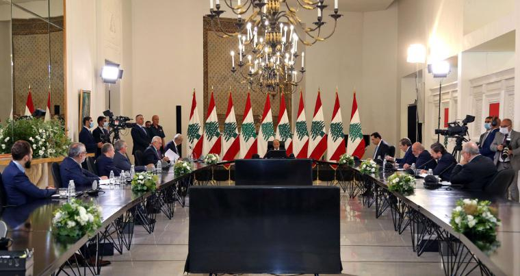 chaired by President Michel Aoun at the presidential palace in Baabda, June 25. (AFP)