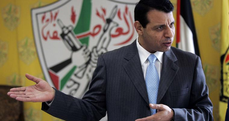 A 2011 file photo shows Mohammed Dahlan speaking during an interview in the West Bank city of Ramallah. (AP)