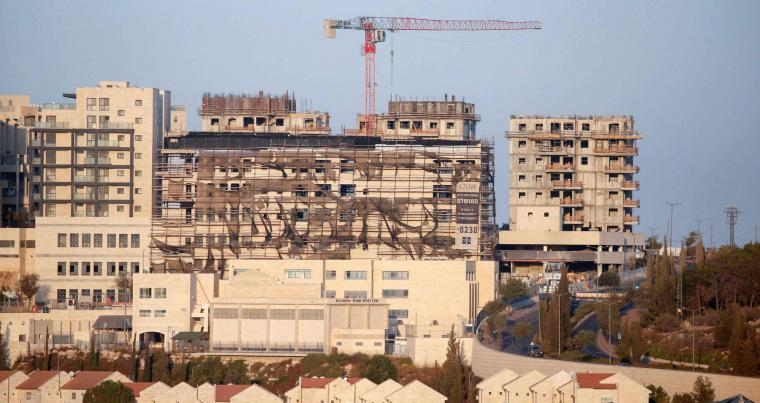 New buildings in the Israeli settlement of Efrat south of the city of Bethlehem in the occupied West Bank..(AFP)