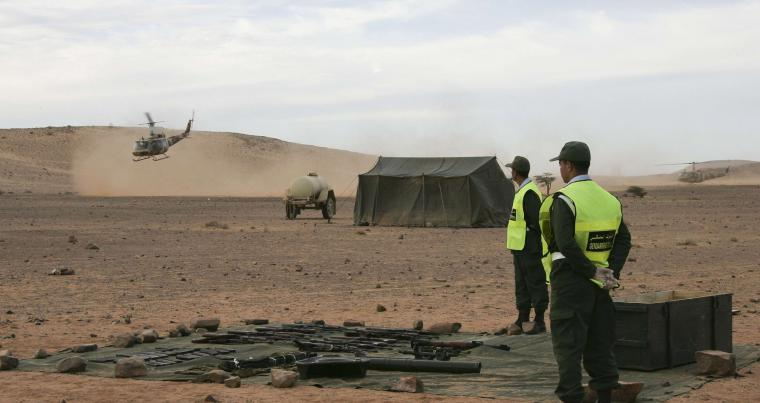 A 2011 file photo shows Morocco's police undertaking a search operation in Laayoune. (AFP)