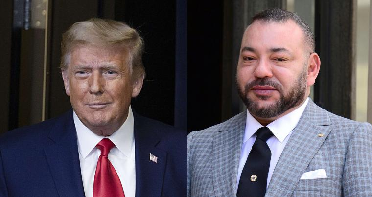 combination picture of US President Donald Trump and Morocco's King Mohammed VI. (AFP/ REUTERS