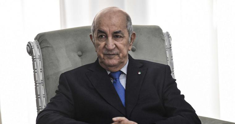 A January 21, 2020 file photo of Algerian President Abdelmadjid Tebboune. (AFP)