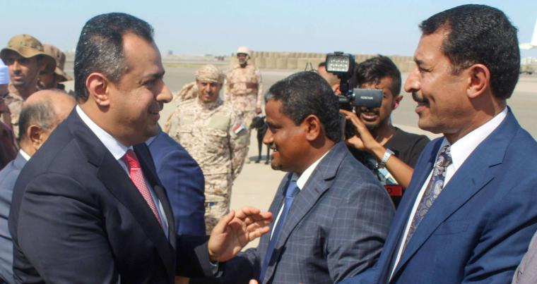 A file picture shows Yemen's Prime Minister Maeen Abdulmalik Saeed in Aden. (AFP)