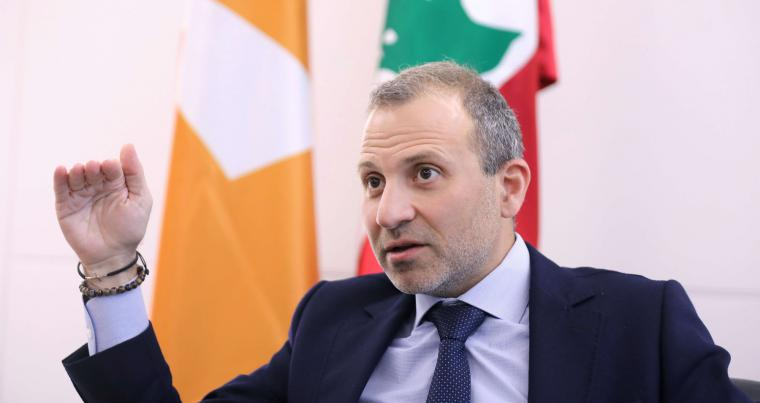 Gebran Bassil, a Lebanese politician and head of the Free Patriotic movement, talks during an interview. (REUTERS)