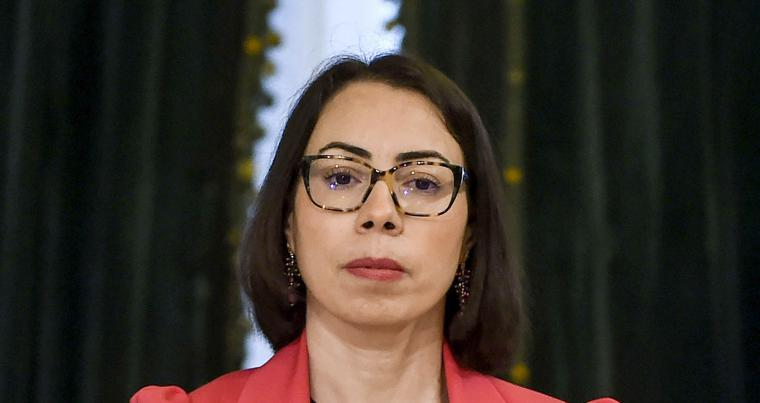 A file photo of Nadia Akacha, chief of staff of the Tunisian president. (AFP)