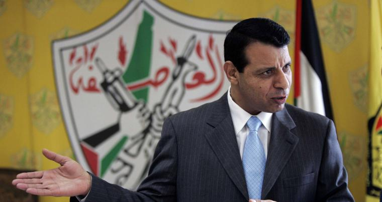 A 2011 file photo shows Mohammed Dahlan speaks during an interview at his office in the West Bank city of Ramallah. (AFP)