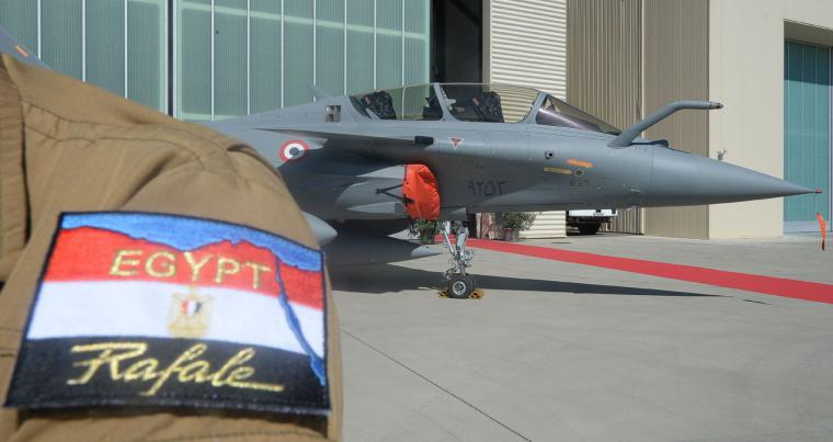 A 2015 file picture shows a French-made Rafale fighter jets purchased by Egypt stationed before delivery from an air base in the southern France city of Istres. (AFP)