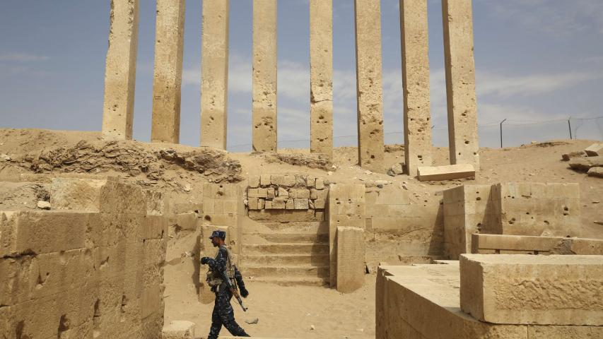 Yemen's Awwam Temple (also known as the Mahram Bilqis) in Marib on February 3. (AP)